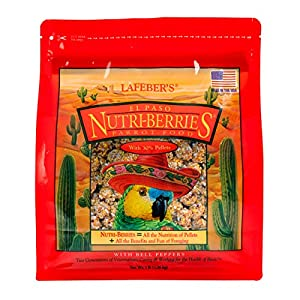LAFEBER'S El Paso Nutri-Berries Pet Bird Food, Made with Non-GMO and Human-Grade Ingredients, for Parrots, 3 lb 68
