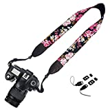 Dunnomart New Camera Neck Shoulder Print Cotton Camera Colorful Strap