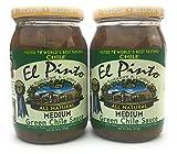 salsa el pinto - El Pinto Medium Chili Sauce 16oz Jar (Pack of 2)