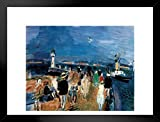 Raoul Dufy Honfleur Jette French Fauvist Painting Print Matted Framed Poster by ProFrames 26x20 inch