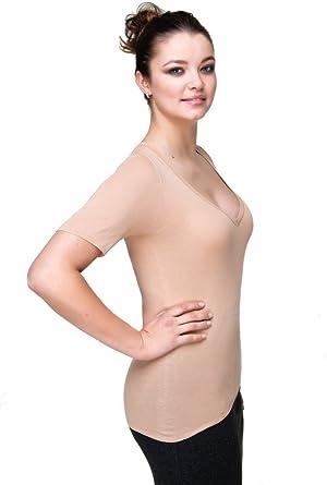 COVERT - Camiseta interior de algodón para mujer, invisible, XXS ...