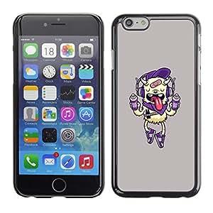 X-ray Impreso colorido protector duro espalda Funda piel de Shell para Apple iPhone 6 Plus(5.5 inches)- Dog Funny Cute Pink Drink