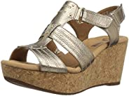 Clarks Womens Annadel Orchid Wedge Sandal