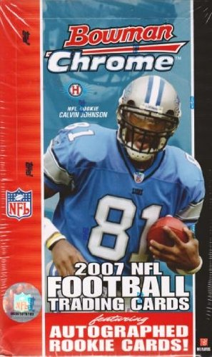 1-One-Box-2007-Bowman-Chrome-Football-Hobby-Box-18-Packs-per-Box-Possible-Adrian-Peterson-Calvin-Johnson-or-Marshawn-Lynch-Autographed-Rookie-Card