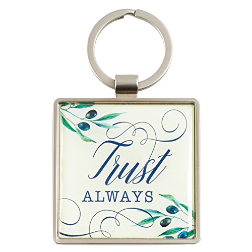 Keyring: Trust Always in Olive Design - Psalms 52:8-9, Olive Branch ()