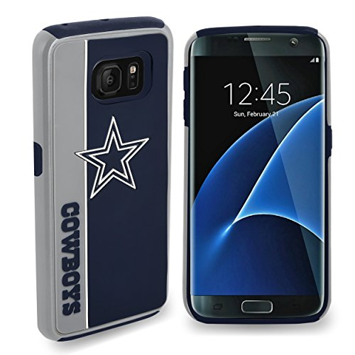 Nfl Cowboys Dallas Case (Forever Collectibles Dual Hybrid BOLD Series Case for Samsung Galaxy S7 Edge - NFL Dallas Cowboys)