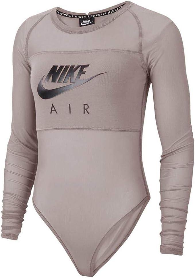 Volverse loco El cielo Oxidado  Nike Women's Air Long-Sleeve Mesh Bodysuit at Amazon Women's Clothing store