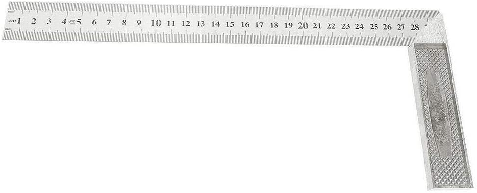 Clara Tracy Mitre Squares Metal Stainless Steel Engineers Try Framing L-Square Right Angle 90 Degrees Ruler Angle Metric Set Measurement Tool for Woodworking Carpenter Craftsmen Roofer Tool