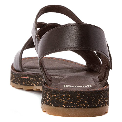 Camper Womens Pim Pom Sandal Cafe Leather 2EYzK