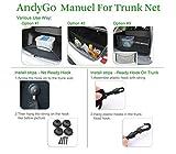 AndyGo Rear Cargo Trunk Storage Organizer Net for
