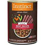 Instinct Grain Free Stews Beef Recipe with Carrots & Peas Natural Wet Canned Dog Food by Nature's Variety, 12.7 oz. Cans (Case of 6)