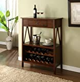 Titian Wood Wine Storage Cabinet- Antique Tobacco