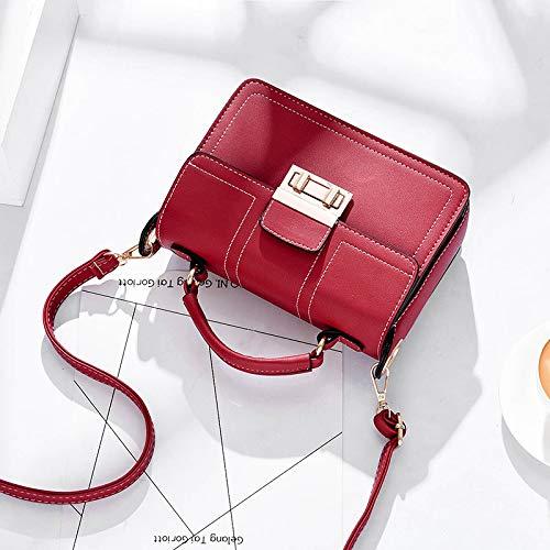 Sauvage Et À Xmy Bag Vin Fashion Messenger Bandoulière Femme Pour Simple Sac Rouge fxwxOqSgF