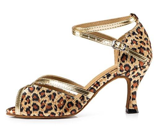 5cm Mujer De Satin Heel MGM Salón Joymod Leopard 7 CqBtv4n