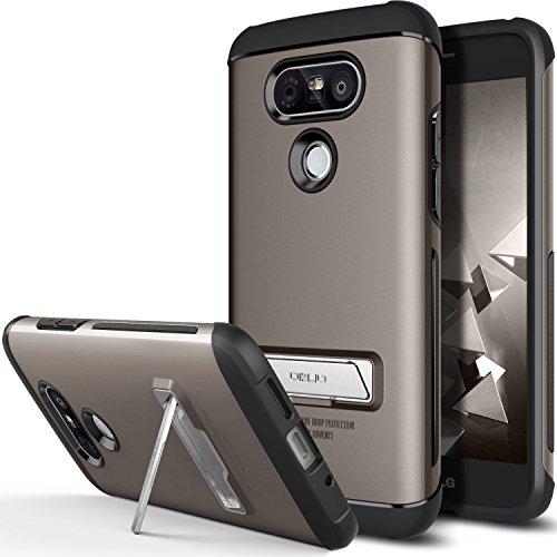 LG G5 Case, OBLIQ [Skyline Advance][Gun Metal] with Metal Kickstand Thin Dual Layered Metallic Heavy Duty Hard Protection Hybrid Case for LG G5 (2016)