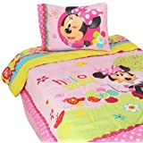 "Disney Minnie Mouse Bowtique Garden Party 64"" x 86"" Reversible Twin Reversible Comforter"