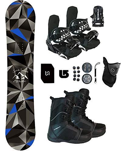 Symbolic Arctic Snowboard & Bindings & Boots +Leash+Stomp+Mask+Burton Decal Package
