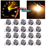 02 escort climate control panel - CCIYU 20 Pack Warm White T5/T4.7 Neo Wedge Halogen A/C Climate Control Light Bulbs 12V