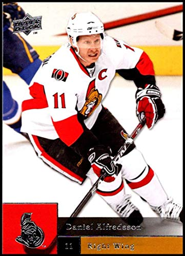 Ottawa Senators Daniel Alfredsson Photo - 2009-10 Upper Deck Hockey Series 1#23 Daniel Alfredsson Ottawa Senators Official NHL UD Trading Card