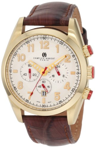 Charles-Hubert, Paris Men's 3895-G Premium Collection Gold-Plated Stainless Steel Chronograph Watch