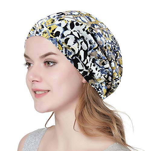 (Alnorm Soft Satin Lined Beanie Cap for Men & Women Casual Turban)