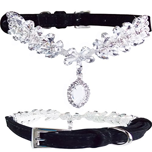 wwwsuppliers-cute-small-black-pu-leather-suede-crystals-with-diamond-pendant-luxury-collar-for-dogs-