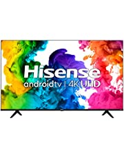 """Hisense 50A68G - 50"""" Smart TV Ultra HD 4K Dolby Vision HDR10 Android Television with Bluetooth, Voice Remote (Canada Model) (2021) Black"""