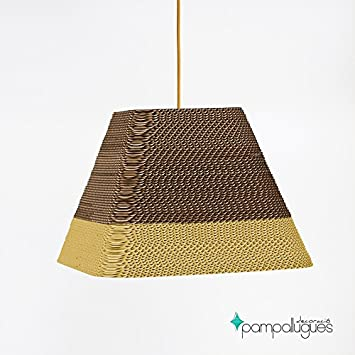 Teseo Mostaza - Lamparas de Carton - Lamparas de Techo ...