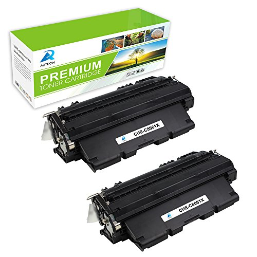 Aztech 2 Pack Replaces 61X C8061 C8061X Black Toner Cartridge 10 000 Pages High Yield Used For LaserJet 4100 MFP 4101 MFP 4100 4100DTN 4100N 4100TN 4100SE Printer
