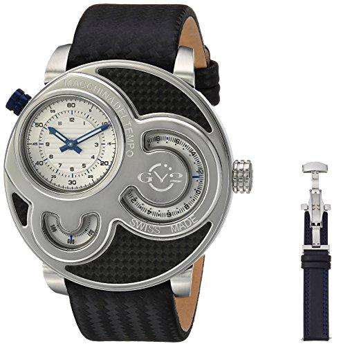 GV2-by-Gevril-Mens-8301-Macchina-Del-Tempo-Analog-Display-Swiss-Quartz-Black-Watch