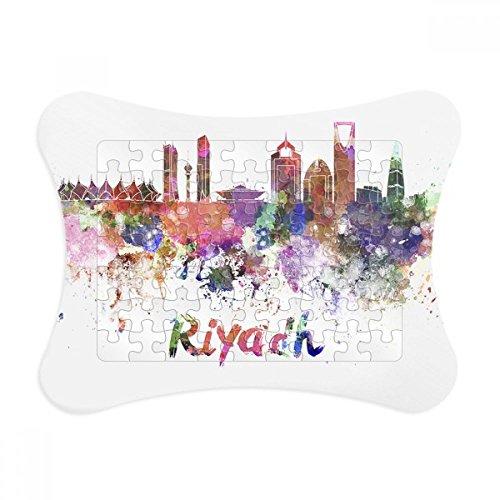 Riyadh Saudi Arabia City Watercolor Paper Card Puzzle Frame Jigsaw Game Home Decoration Gift