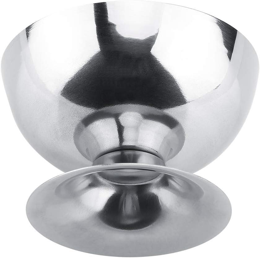 Short Copa de helado MAGT Copas de helado de acero inoxidable Plato de postre Tazones para ensalada Pud/ín de frutas en restaurantes de hoteles