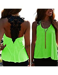 Susenstone Womens Casual Backless Hollow Vest Tops Tank Sleeveless Shirt Blouse
