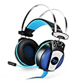 GranVela GS500 Gaming Headset 3.5mm Wired Over Ear Stereo Headphone with Microphone, Noise Isolation for PS4/Notebook/Laptop – Blue Review