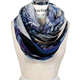 Scarfand's Mixed Color Oil Paint Infinity Fashion Scarf (BrushStroke Blue & Purple)