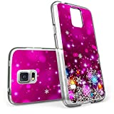 S5 Case Christmas Design Rose red snowflakes, LAACO