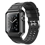 For Apple Watch Case with Band, Kobwa 38mm/42mm Soft TPU Replacement IWatch Sport Nike Edition Band Strap Wristband With Rugged Watch Frame For Apple Series 1 Series 2 Watch