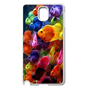 Samsung Galaxy Note 3 Case,Colorful Fish Hard Shell Back Case for White Samsung Galaxy Note 3 Okaycosama358336