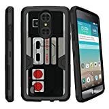 Cheap MINITURTLE Case Compatible w/ LG Aristo Case | LG Phoenix 3 Case | LG Fortune Case [MAX DEFENSE] Premium Defender Case Hard Shell Silicone Interior and Holster Game Controller Retro