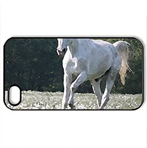 Amazing horse. - Case Cover for iPhone 4 and 4s (Horses Series, Watercolor style, Black)