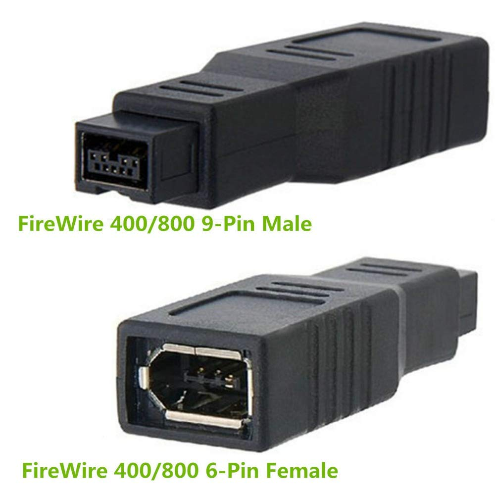 Computer Cables Yoton 1394 9 Pin Male to 6 Pin Female Connector Fire Wire 800 to 400 Adapter Cable Converter Cable Length: Other