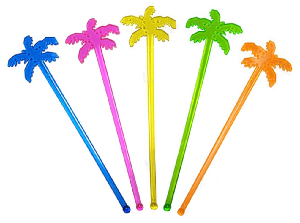 Plastic Palm Tree Swizzle Stir Sticks / Case of 1000