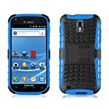 Galaxy S2 T989 Case, JAMMYLIZARD ALLIGATOR Heavy Duty Double Protection Rugged Back Cover for Samsung Galaxy S2 T989, Blue