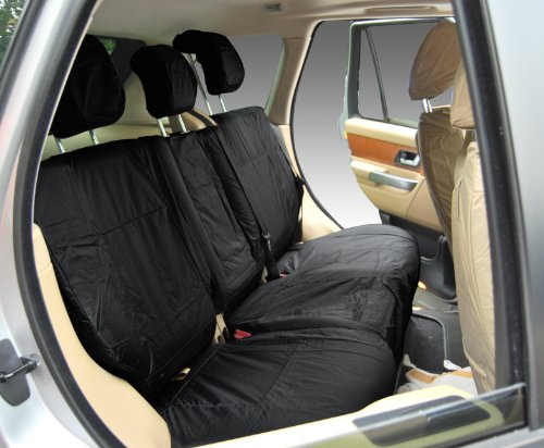Inka Corp. Land Rover Range Rover Sport L494 Fully Tailored Waterproof Rear 60/40 Non Load Through Centre Armrest Seat Covers 2013-2016 Heavy Duty Right & Left Hand Drive Black - INK-WSC-7127: