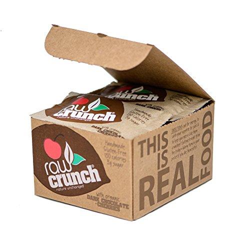 Raw Crunch Bars - Organic Dark Chocolate Cherry - Box 12 Bars ()