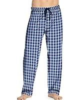 Hanes Men's Logo Woven Plaid Pants