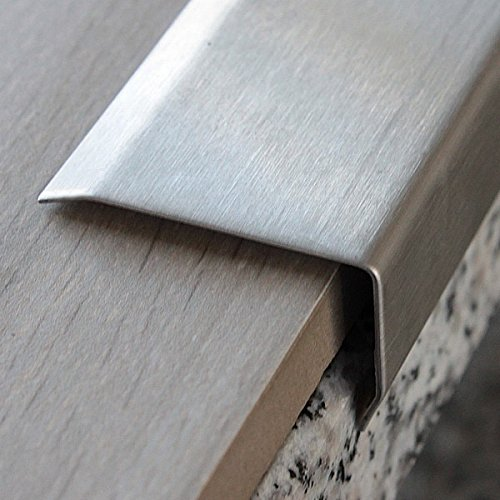 ORIGINAL Stainless Steel strip stair angle, STAIR NOSING PROFILES stair profile | 2m 40x25mm ASPRO