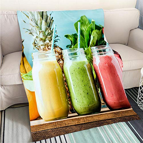 - BEICICI Art Design Photos Cool Quilt Freshly Blended Fruit Smoothies and Tastes Hypoallergenic - Plush Microfiber Fill - Machine Washable