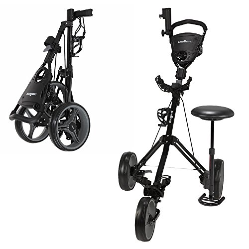 Caddymatic Golf X-TREME 3 Wheel Push/Pull Golf Cart with Seat Black by Caddymatic (Image #3)