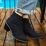 Women's Wide Width Ankle Boots - Mid Chunky Block